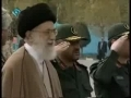 Ayatollah Khamenei inspecting army graduates - All Languages
