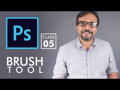 Brush Tool - Adobe Photoshop for Beginners - Class 5 | Urdu Hindi