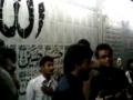 Shadman raza noha parcham koushaei Hazrat Abbas Alamdar (as) at imam Bargha Karachi - Urdu